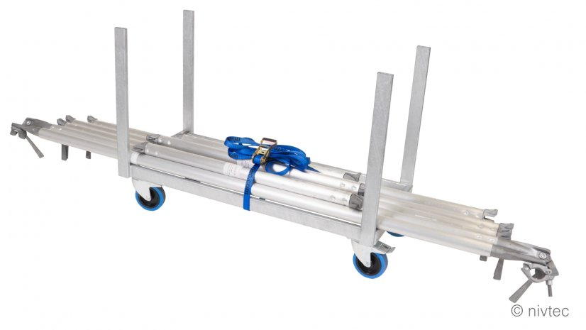 804020, trolley for braces, large, length: 108 cm, width: 48 cm, incl. belt 1,6to