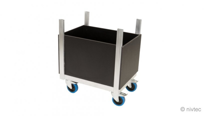 804030, trolley for accessories, small, D: 64 cm, šírka: 48 cm, with floor and side walls