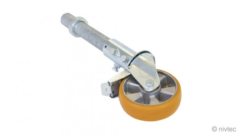 206 131 T, SH:80cm, steel extension adapter for stage, for wheels diam. 16cm, for stage height:80 cm