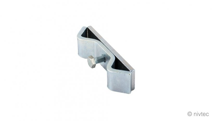 310110, link for gallery safety rail, steel, galvanized, D: 110 mm