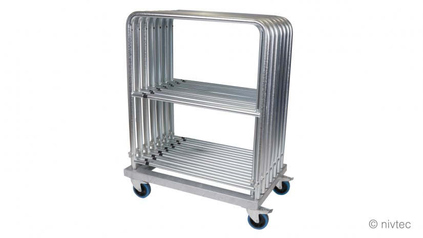 806020, Nivtec rail transport trolley with brakes