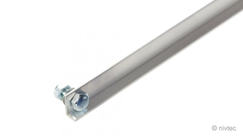 100131, lever for locking system, lenght 0,5m, alu, for 1m side