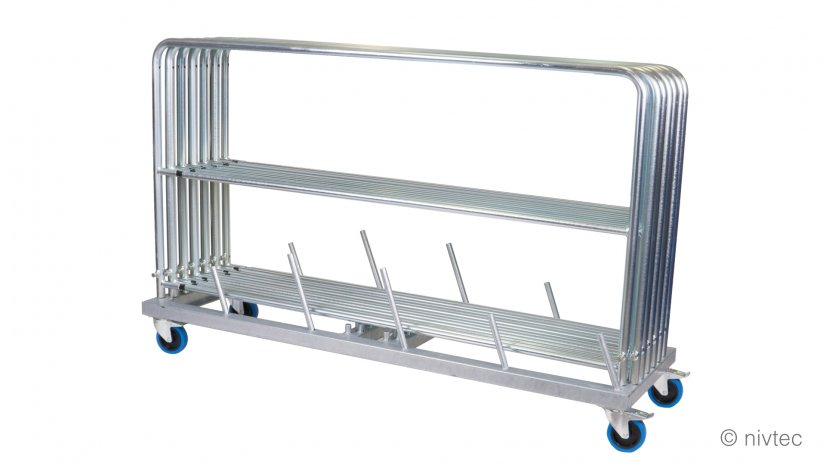 806010, transport trolley for 10 big (185 cm) and 4 small (85 cm) rails