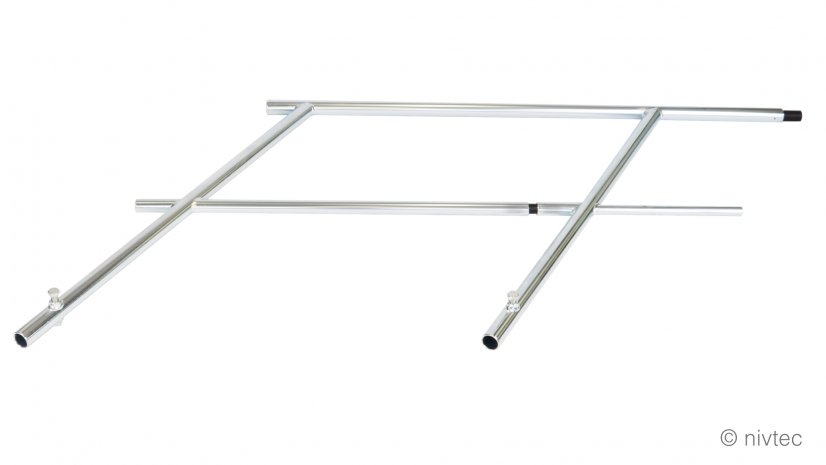 304040, H: 100cm, triple middle part Nivtec safety stairway rail